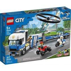 Lego 60244 Policía: Camión de Transporte del Helicóptero