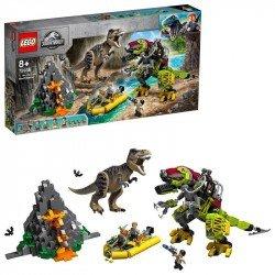 T. rex vs. Dinosaurio Robótico